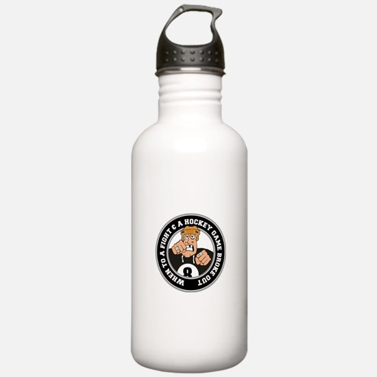 Funny Hockey Player Water Bottle