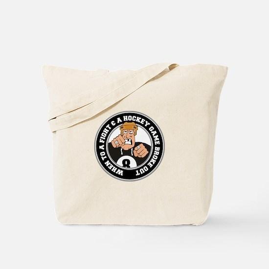 Funny Hockey Player Tote Bag