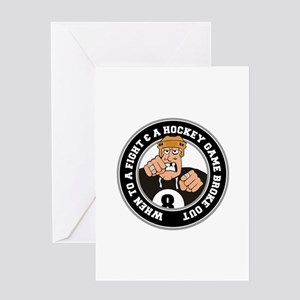 Funny Hockey Player Greeting Card