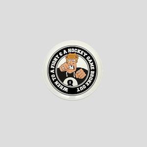 Funny Hockey Player Mini Button