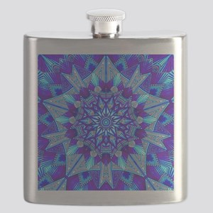 Blue and Purple Patterned Star Flask