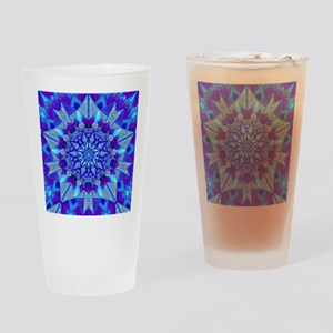 Blue and Purple Patterned Star Drinking Glass