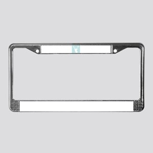 Mint Stag Head License Plate Frame