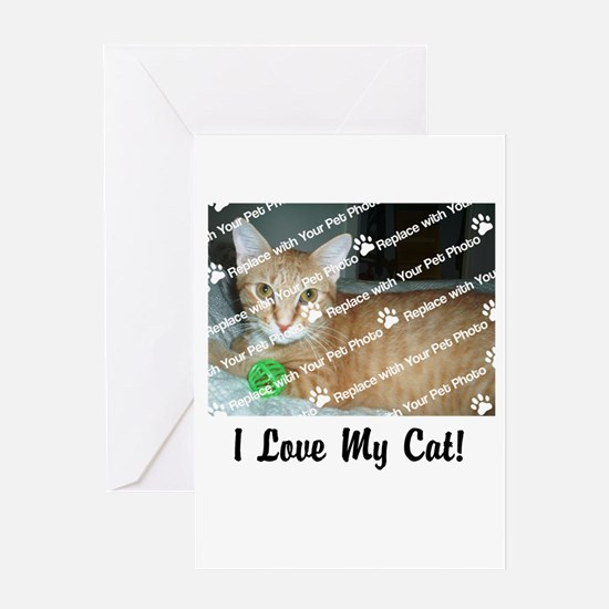 CUSTOMIZE Add Photo Love Cat Greeting Cards
