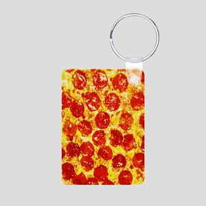 Pizzatime Aluminum Photo Keychain