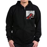 Fox Thinks Zip Hoodie (dark)