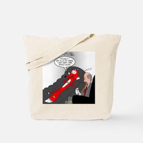 Fox Thinks Tote Bag