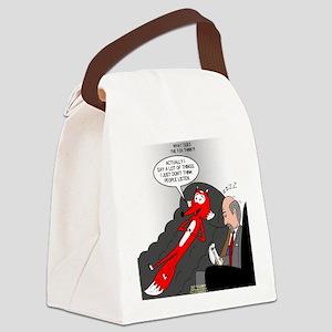 Fox Thinks Canvas Lunch Bag