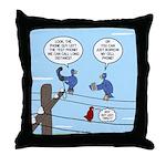 Bird Calls Throw Pillow