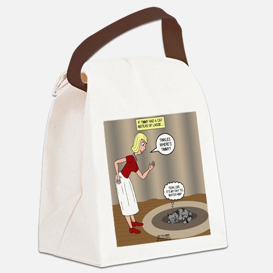 Tinkles - Timmys Cat Canvas Lunch Bag