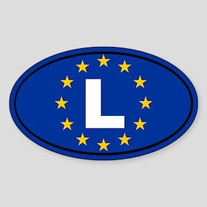 Luxembourg European Union Sticker