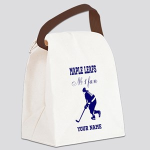 Number 1 Hockey Fan Canvas Lunch Bag