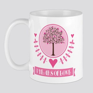 3rd Anniversary Love Tree Mug