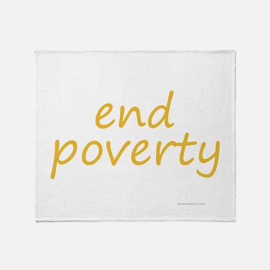 end poverty Throw Blanket