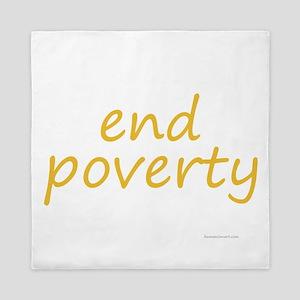 end poverty Queen Duvet