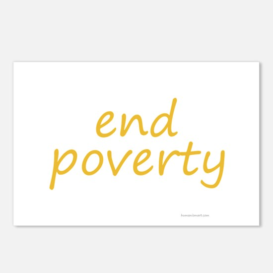 end poverty Postcards (Package of 8)