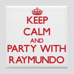 Keep Calm and Party with Raymundo Tile Coaster