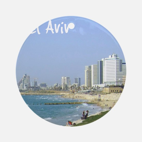 Tel Aviv Beach Ornament (Round)
