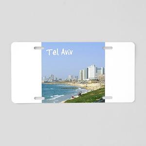 Tel Aviv Beach Aluminum License Plate