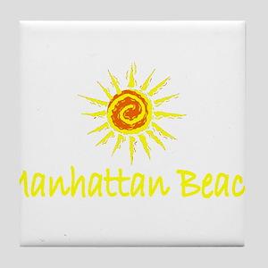 Manhattan Beach, California Tile Coaster