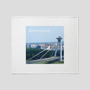 Bratislava Bridge Throw Blanket