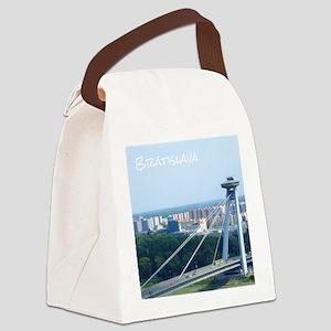 Bratislava Bridge Canvas Lunch Bag
