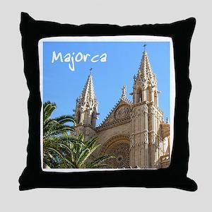 Majorca Church Throw Pillow
