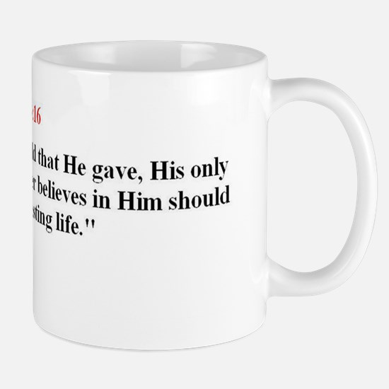 Scripture from the Bible, say Mugs