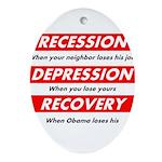 recession Ornament (Oval)