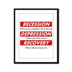 recession Framed Panel Print