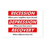 recession Postcards (Package of 8)