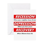 recession Greeting Cards