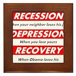 recession Framed Tile