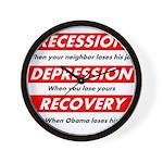 recession Wall Clock