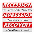 recession Tile Coaster
