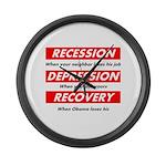recession Large Wall Clock