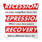 recession Woven Throw Pillow