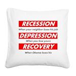 recession Square Canvas Pillow