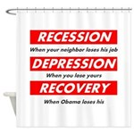 recession Shower Curtain