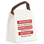 recession Canvas Lunch Bag