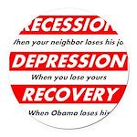 recession Round Car Magnet