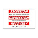 recession Rectangle Car Magnet