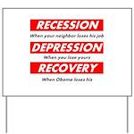 recession Yard Sign