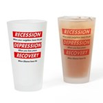 recession Drinking Glass