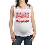 recession Maternity Tank Top