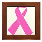 pink-ribbon Framed Tile