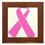 pink-ribbon Framed Tile