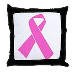 pink-ribbon Throw Pillow