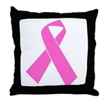 pink-ribbon Throw Pillow