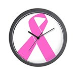 pink-ribbon Wall Clock